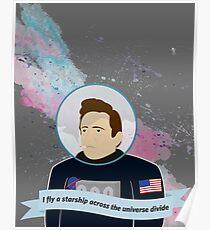 Johnny Cashtronaut Poster