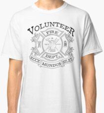 Camiseta clásica departamento de bomberos voluntarios