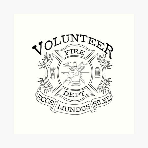 departamento de bomberos voluntarios Lámina artística