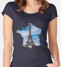 Eiffel Tower, France Women's Fitted Scoop T-Shirt