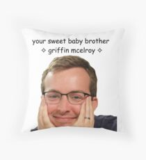 your sweet baby brother griffin mcelroy from polygon.com Throw Pillow