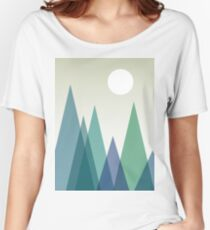 Mountains Geometric Art Design Women's Relaxed Fit T-Shirt