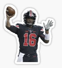 JT Barrett Throwing Football Sticker