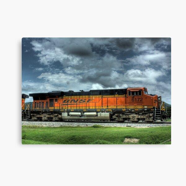 BNSF Train HDR Canvas Print