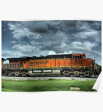 BNSF Train HDR Poster