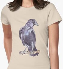 Crow wears a band of Silver - Coco Women's Fitted T-Shirt