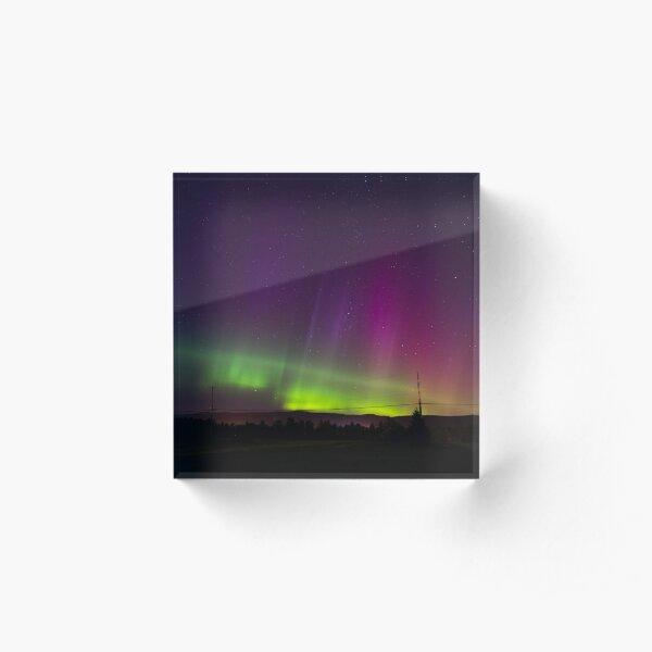 Northern Lights Acrylic Block