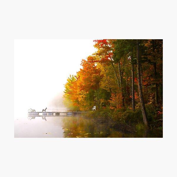 Autumn mist Photographic Print