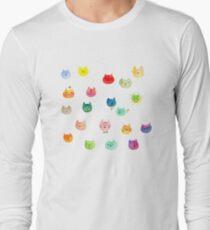 Cat confetti Long Sleeve T-Shirt