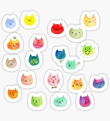 Cat confetti Sticker