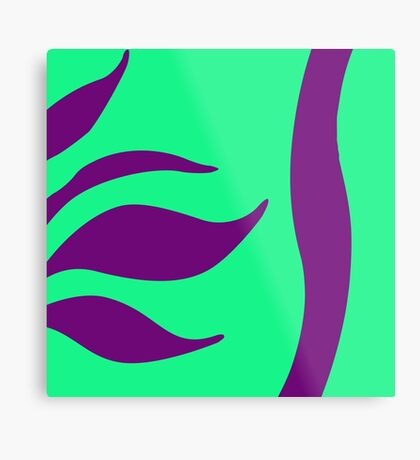 Mint Green with Purple by Julie Everhart Metal Print
