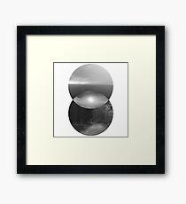 Duality - Black & White Framed Print