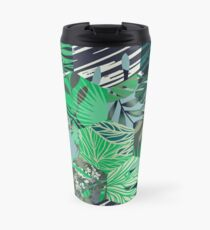Seamless pattern with tropical leaves Travel Mug