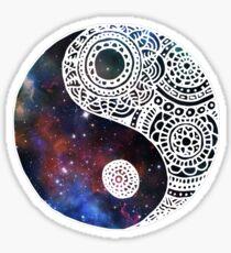 Galaxy Yin Yang Sticker