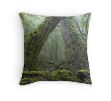 Ancient Rainforest Throw Pillow