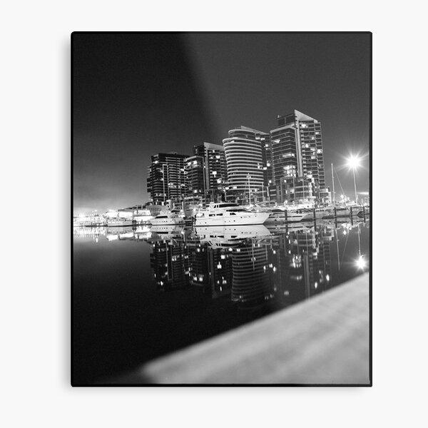 Dockland in Monochrome Metal Print