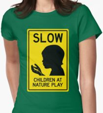Children at Nature Play  Womens Fitted T-Shirt