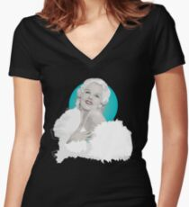 Platinum Blonde Women's Fitted V-Neck T-Shirt