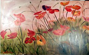 Poppies in the field by LornaA