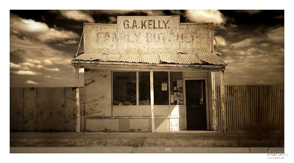 Kelly's old butcher shop, Whitton, NSW by Aaron .