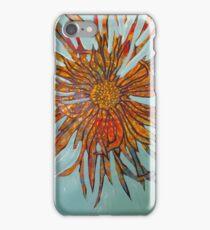 Orange and blue flower 2  iPhone Case/Skin