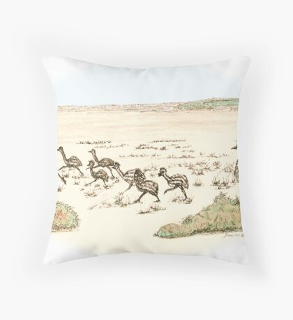 Learning the Dance water colour Throw Pillow