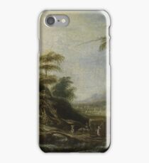 Landscape with hay wagon iPhone Case/Skin