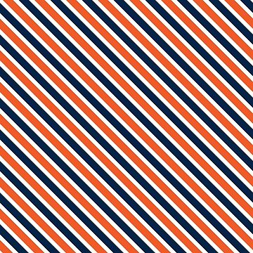 Stripes. navy, white, orange by AlxMtz