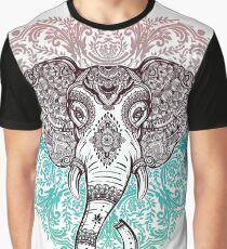 Vintage ornate mandala elephant with tribal ornaments. Graphic T-Shirt