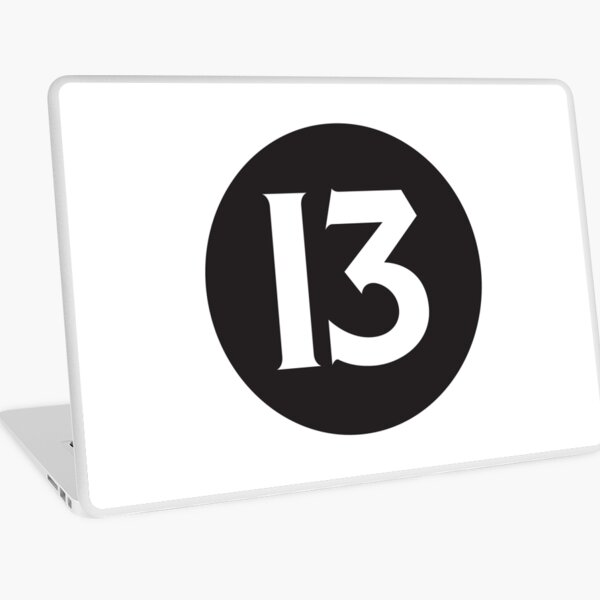 Number 13 Black Laptop Skin
