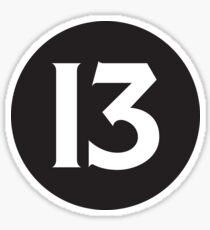 Number 13 Black Sticker