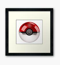 Pokeball - Pokemon Framed Print