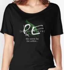 the worst foe lies within Women's Relaxed Fit T-Shirt