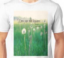Happiness Jane Austen Unisex T-Shirt