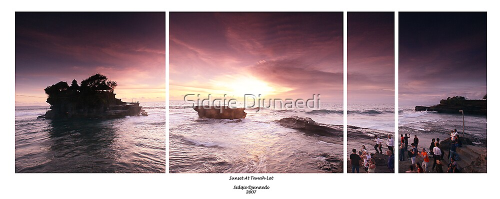 Sunset at Tanah Lot by Sidqie Djunaedi