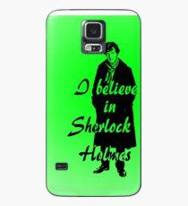 I believe in sherlock Holmes - green Case/Skin for Samsung Galaxy