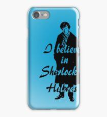 I believe in sherlock Holmes - blue iPhone Case/Skin