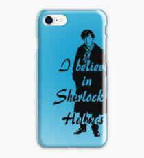 I believe in sherlock Holmes - blue iPhone Case/Skin