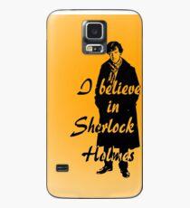 I believe in sherlock Holmes - orange Case/Skin for Samsung Galaxy