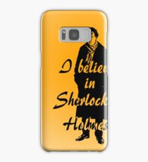 I believe in sherlock Holmes - orange Samsung Galaxy Case/Skin