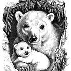 Polar bear family by elinakious