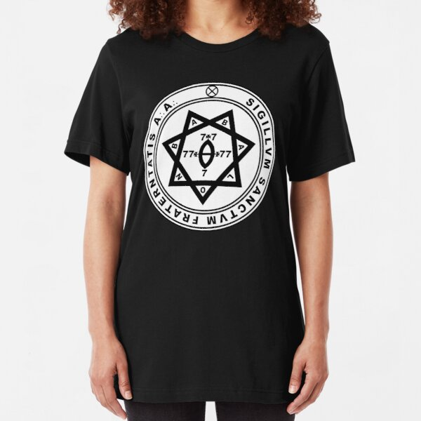 Aleister Crowley Seal - Occult - Thelema Slim Fit T-Shirt