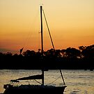 Boat at Dusk by Yip Huang