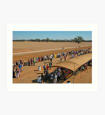 48th Picnic Race Meeting, Warri Racecourse, Ardlethan Art Print