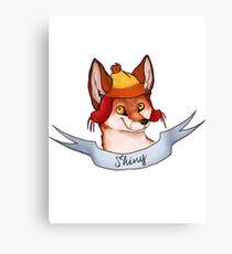 Fandom Foxes! - Shiny Canvas Print