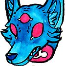 the head of the space coyote by HiddenStash