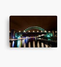 Newcastle Riverside at night Canvas Print