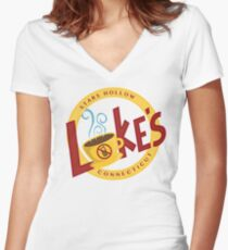 Luke's Women's Fitted V-Neck T-Shirt