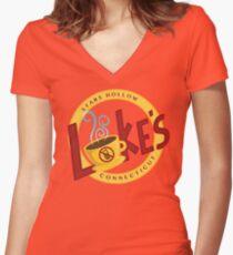 Luke's Women's Fitted V-Neck T-Shirt