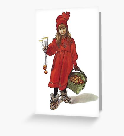 Iduna and the Magic Apples After Larrson Greeting Card